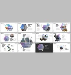 Minimal presentations design portfolio vector