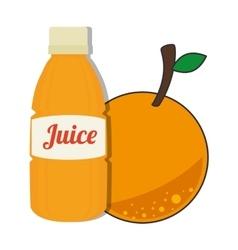 Orange bottle juice vector