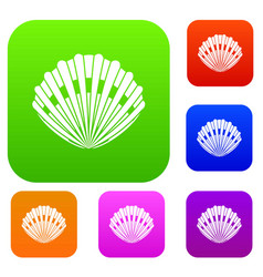 pearl shell set collection vector image