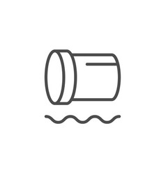 polyethylene pipe line outline icon vector image