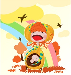 Pregnant mother vector