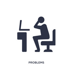 Problems icon on white background simple element vector