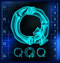 Q letter capital digit roentgen x-ray vector