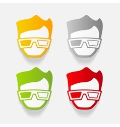 Realistic design element 3d glasses vector