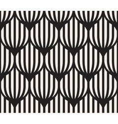 Seamless Black And White Lines Lattice vector image