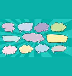 set os speech balloon vector image