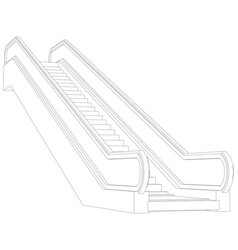Sketch of escalator vector