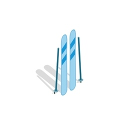 Ski equipment icon isometric 3d style vector image