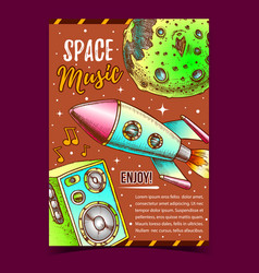 space music enjoy sound advertising poster vector image