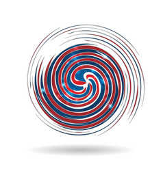 Swirly usa colors icon vector