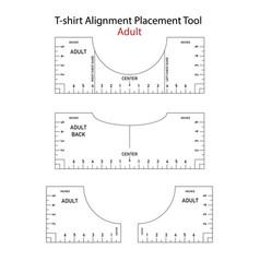 T shirt ruler bundle t-shirt alignment vector