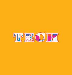 tech concept word art vector image