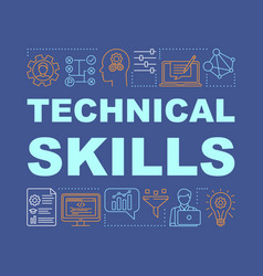 Technical skills word concepts banner vector