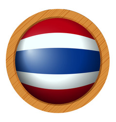 Thailand flag on round badge vector
