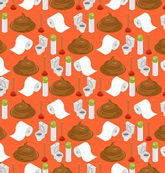 Toilet background Shit and toilet seamless pattern vector image