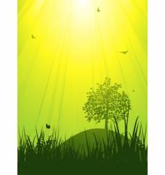 tranquil summer landscape vector image