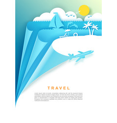 Travel poster banner template vector
