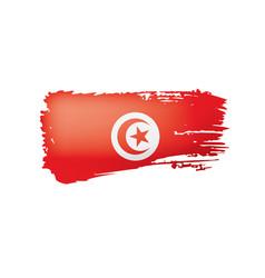 Tunisia flag on a white vector