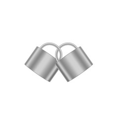 Two connected padlocks in silver design vector