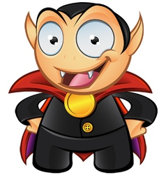 Vampire Mascot Hands On Hips vector image