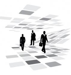 Walking business people vector