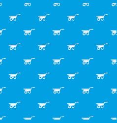 wheelbarrow pattern seamless blue vector image