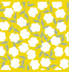 Yellow seamless pattern background vector