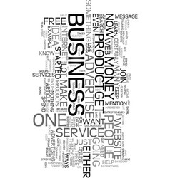your own business if not now when text word cloud vector image