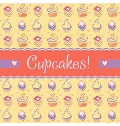 Advertising sweets confectionery logo vector image