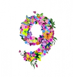 number 9 vector image vector image