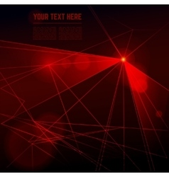 red laser light on dark background vector image vector image