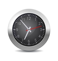 Round Office Wall Clock with Black Dial vector image vector image