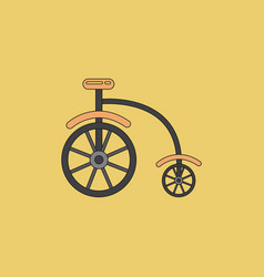 Antique highwheel bike 1885 vector