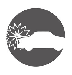 car crash isolated icon vector image