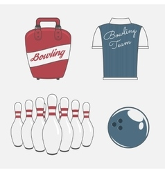 Elements Set for a Bowling Team vector image vector image