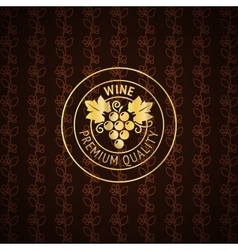 Gold wine label design vector image