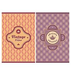 Invitation vintage retro cards vector