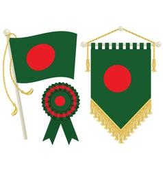 bangladesh flags vector image vector image
