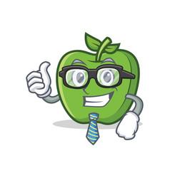 businessman green apple character cartoon vector image vector image