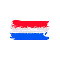 flag of netherlands brush stroke background vector image
