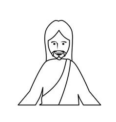 jesus christ man icon vector image vector image