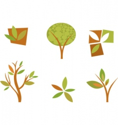 nature logos 08 autumn leaves vector image vector image