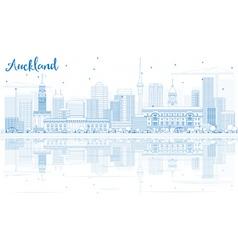 Outline auckland skyline vector