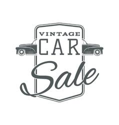 Vintage classic car sale label template vector