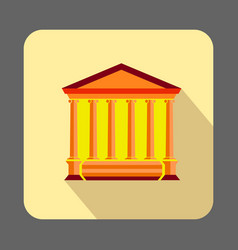 ancient museum concept background cartoon style vector image