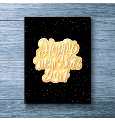 Happy New Year 2017 text Party flyer template vector image vector image