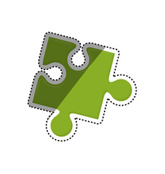 jigsaw puzzle piece vector image vector image
