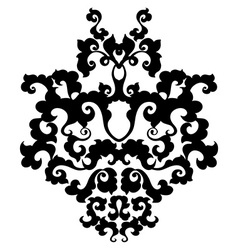 Ornamental damask element vector image