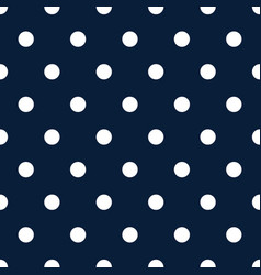 retro pattern with white polka dots on dark blue vector image vector image