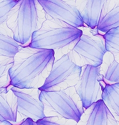 Watercolor Seamless pattern with Purple flower vector image